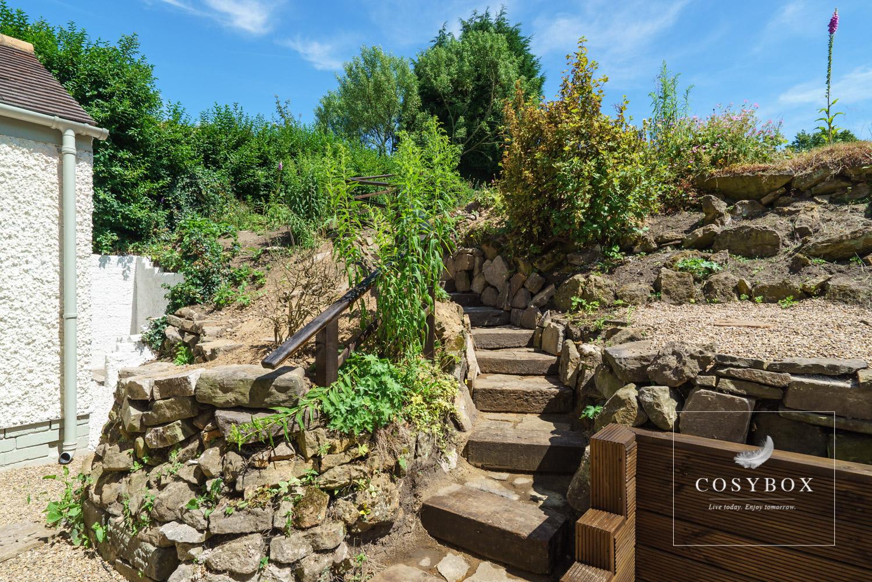 Back garden steps